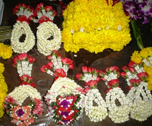 BUDDHIST FLOWER GARLANDS